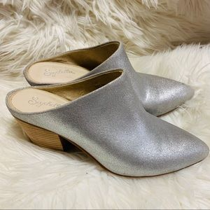 Seychelles silver leather got your answer mule 7.5